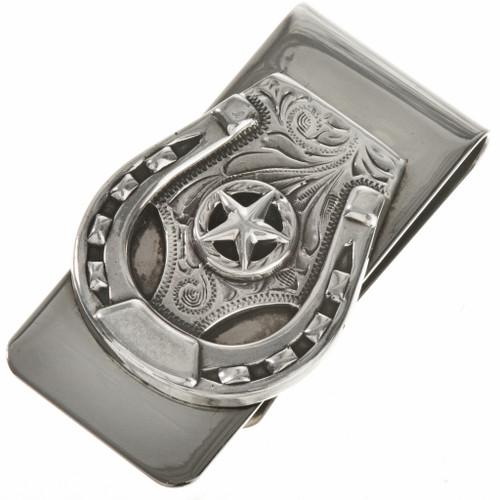 Navajo Silver Horseshoe Money Clip 28823