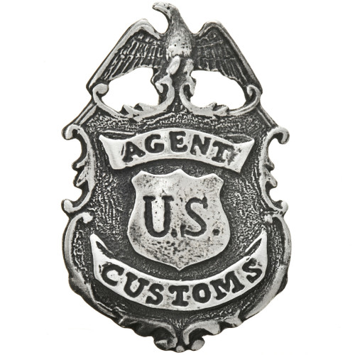 Silver US Customs Agent Badge 29203