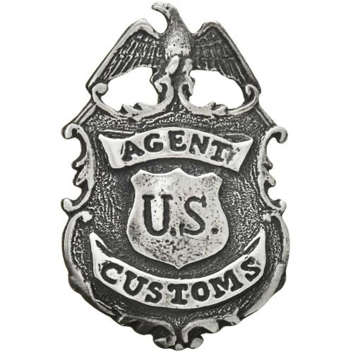 Silver US Customs Agent Badge 29203