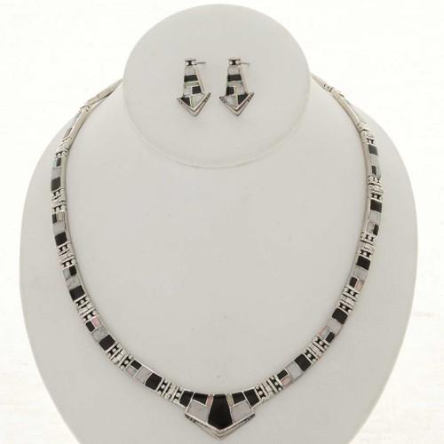Navajo Inlaid Howlite Necklace Set 12719