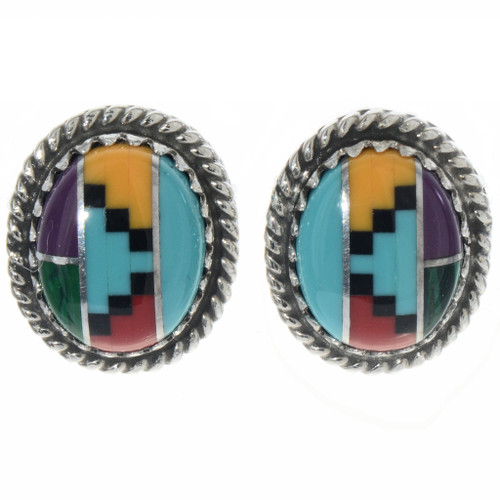 Turquoise Coral Stud Earrings 28442