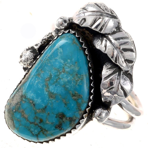 Nevada Turquoise Navajo Ring 24948