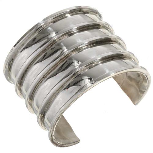 Wide Silver Handmade Cuff 27711