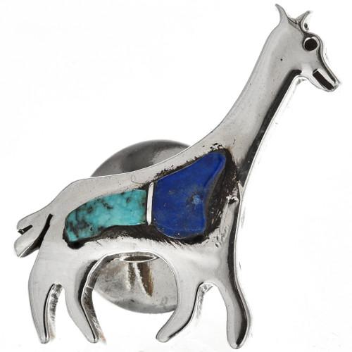 Turquoise Lapis Giraffe Tie Tack 15391