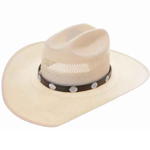 Concho Leather Hatband 22097