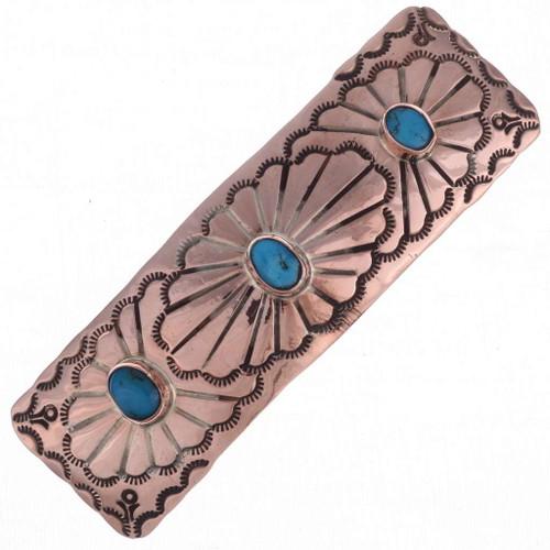Turquoise Copper Barrette 24415