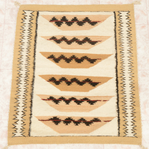Navajo Pictorial Wool Rug 28475