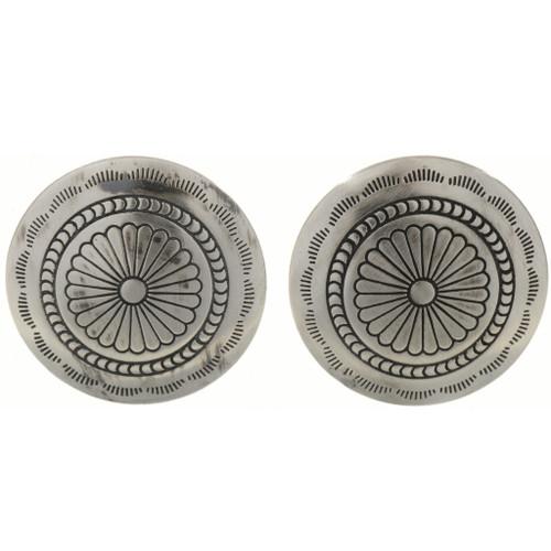 Southwest Silver Concho Cuff Links 24405