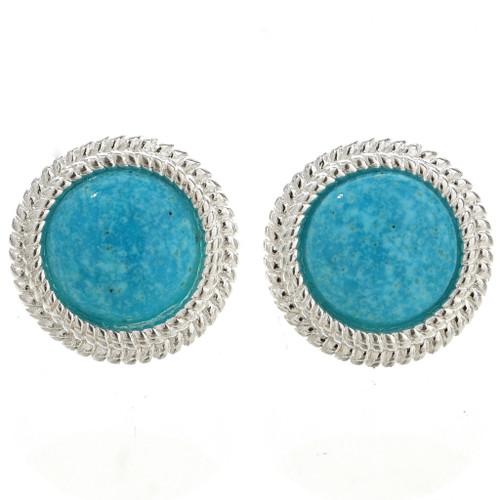 Navajo Blue Turquoise Earrings 26311