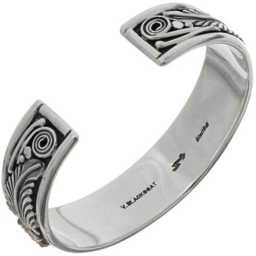Native American Beaded Silver Cuff 26848