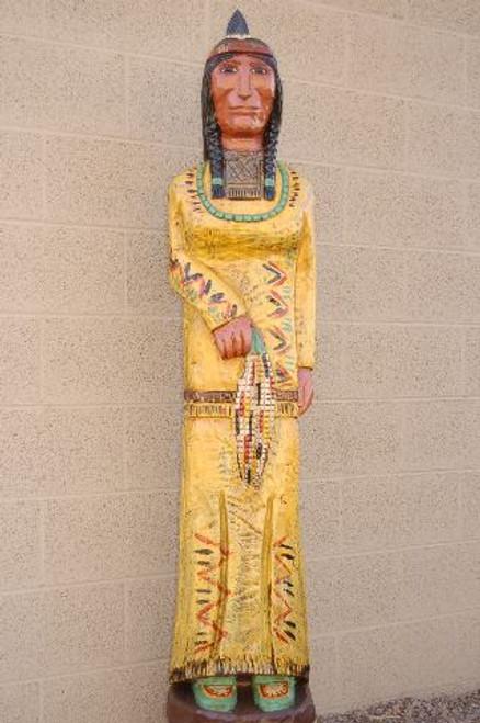 Yellow Corn Maiden Wooden Store Indian 33973