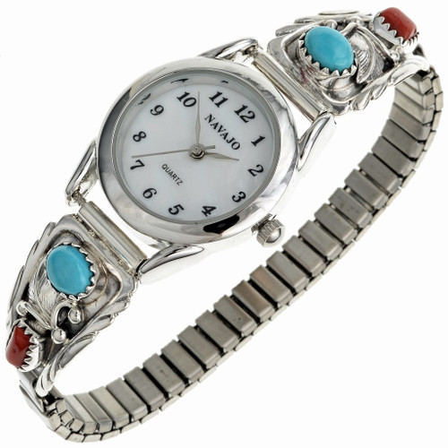 Turquoise Coral Ladies Watch 23094