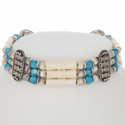 Turquoise Bone Choker 20326