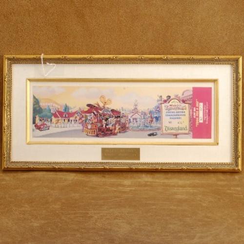 Framed Disney Toontown Commemorative Passport 1993