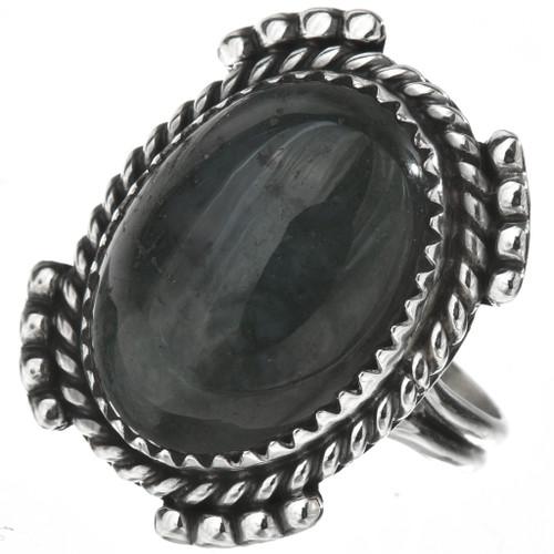 Blue Dumortierite Silver Ladies Ring 28559