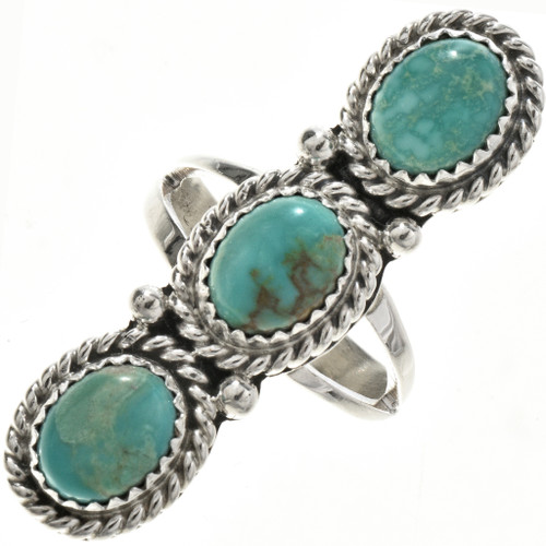 Green Turquoise Ladies Ring 29110