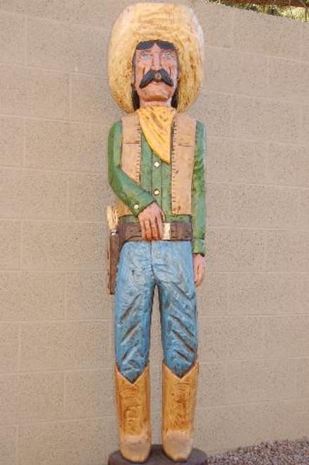 Cigar Store Blue Eyed Bandito Six Feet Tall by Frank Gallagher 2913