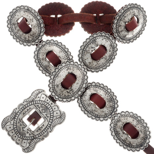 Hammered Silver Concho Belt 22885
