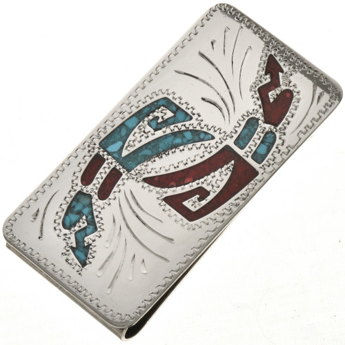 Turquoise Coral Money Clip 23055