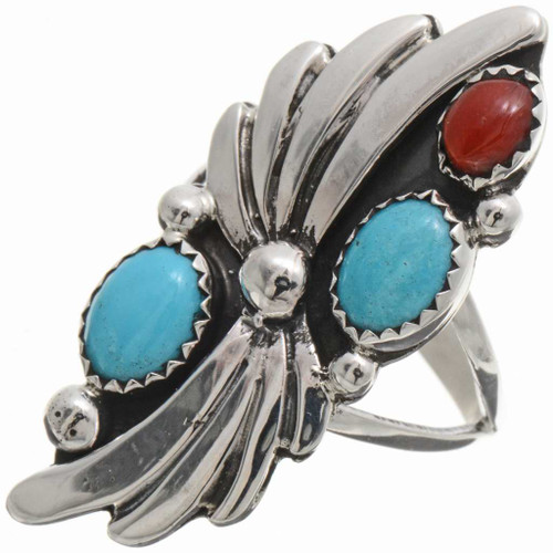 Turquoise Coral Ladies Ring 25866