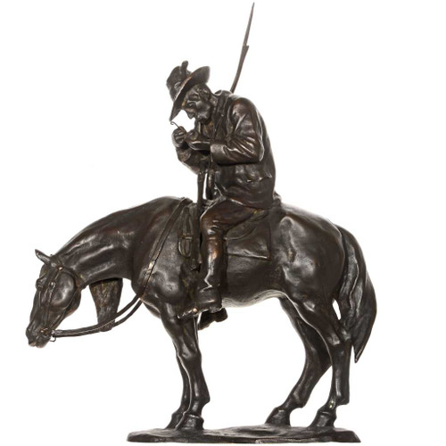 Man on Horse Bronze Sculpture 27441-