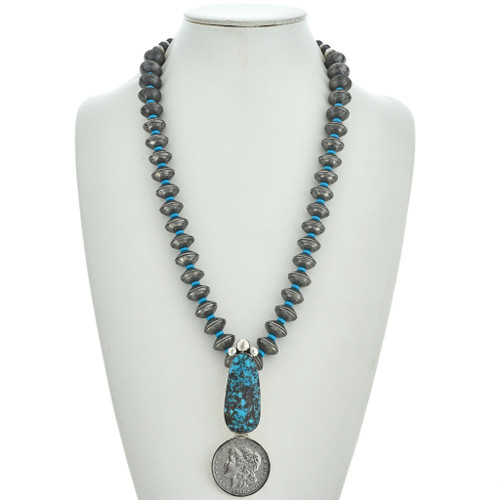Bisbee Turquoise Real Coin Necklace 25354