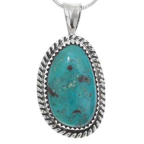Native American Genuine Turquoise Pendant 28700