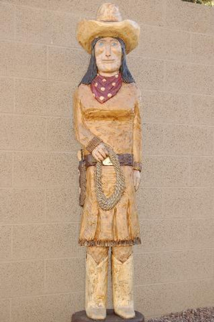 Large Calamity Jane Western Wooden Statue 34014