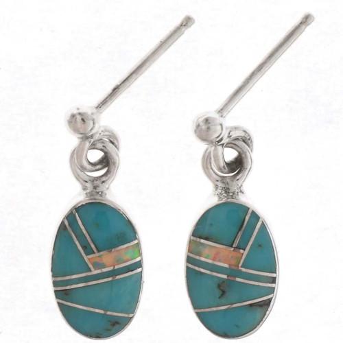Turquoise Opal Dangle Earrings 25637