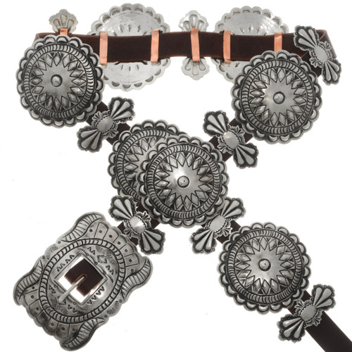 Santa Fe Silver Concho Belt 13881