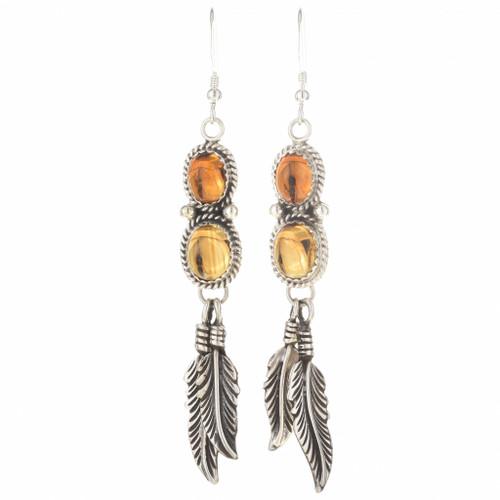 Citrine Native American Earrings 29463