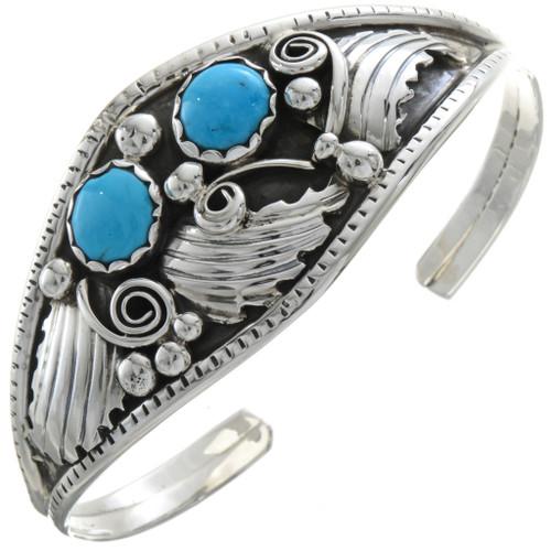 Navajo Turquoise Silver Ladies Bracelet 22509