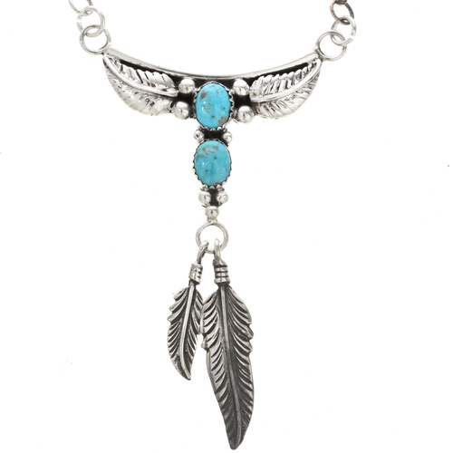 Genuine Turquoise Navajo Necklace 28024