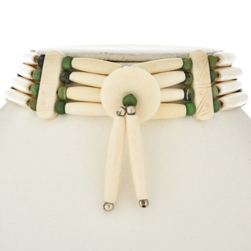 Indian Concho Bone Choker 24137