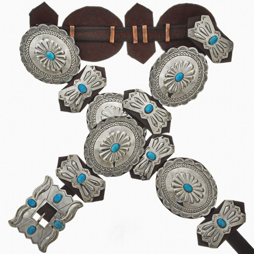 Sleeping Beauty Turquoise Silver Concho 15880