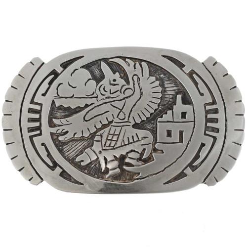 Eagle Kachina Silver Buckle 27364