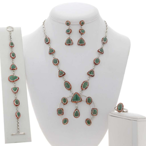 Turquoise Spiny Oyster Necklace Set 29500