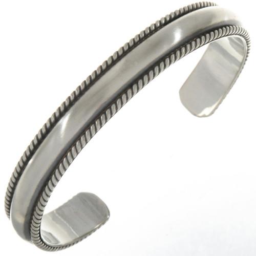 Navajo Sterling Silver Cuff 20040