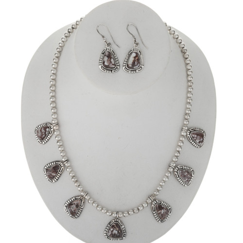 Wild Horse Magnesite Silver Necklace Set 27765