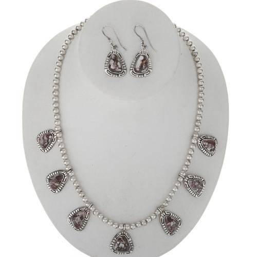 Wild Horse Magnesite Silver Necklace Set 27765