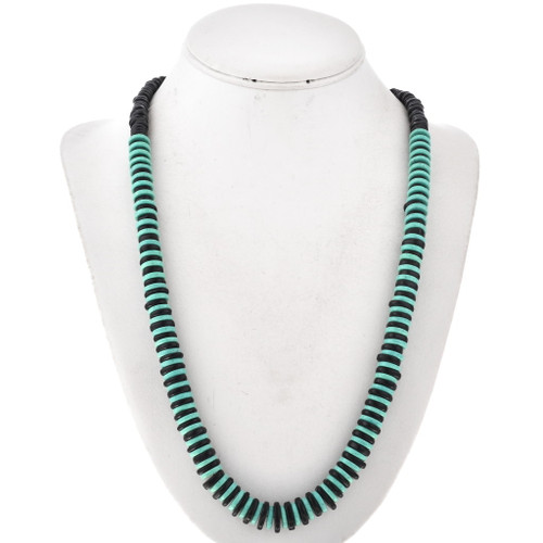 Turquoise Shell Navajo Bead Necklace 29534