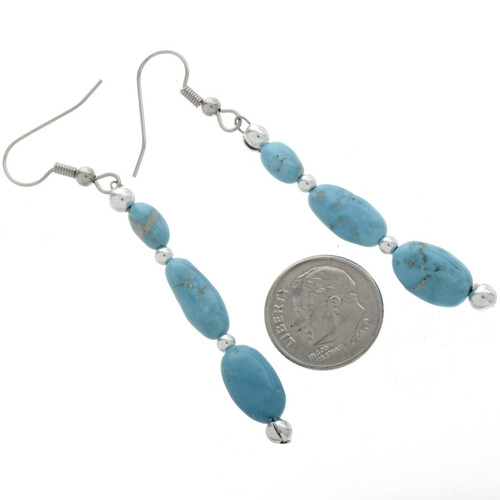 Navajo Design French Hook Earrings 28259