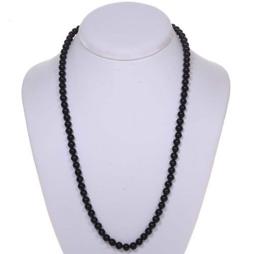 Black Coral Bead Necklace 25417