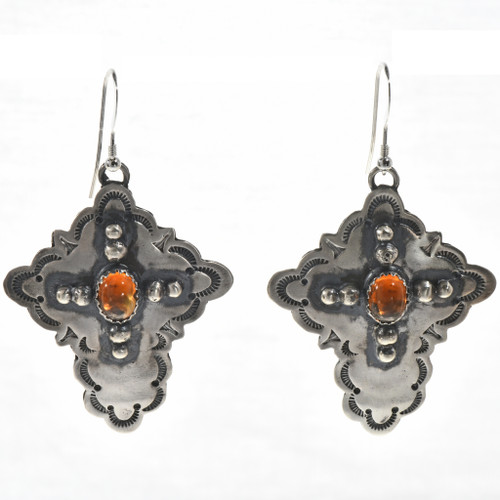 Citrine Silver Cross Earrings 28850