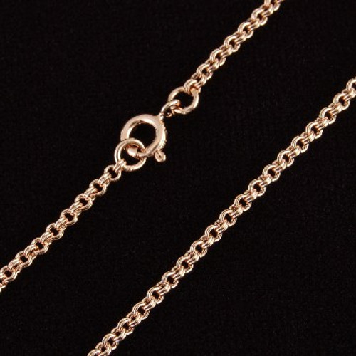 Rose Gold Sturdy Double Link Chain Vermeil Choker Necklace