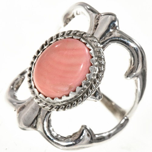 Angelskin Coral Silver Ring 29019