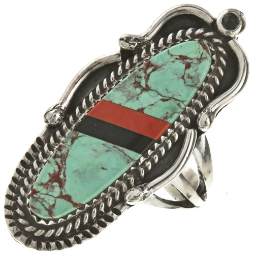 Turquoise Navajo Pointer Ring 28808