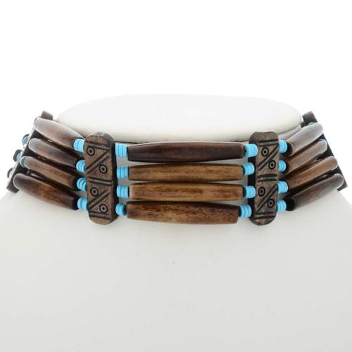Turquoise Heishi Bone Choker 27528