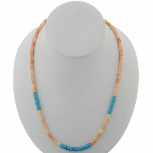 Melon Shell Turquoise Necklace 27437