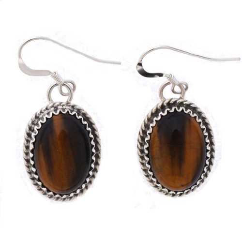 Ladies Tigers Eye Earrings 25528
